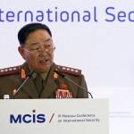 ministro Hyon Yong Chol  en una conferencia hace un mes. REUTERS/Sergei Karpukhin