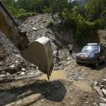 Área de alto riego de deslave tras el terremoto, en el distrito de Gorkha