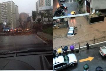 Tras las precipitaciones de este martes, el agua hizo colapsar al pueblo