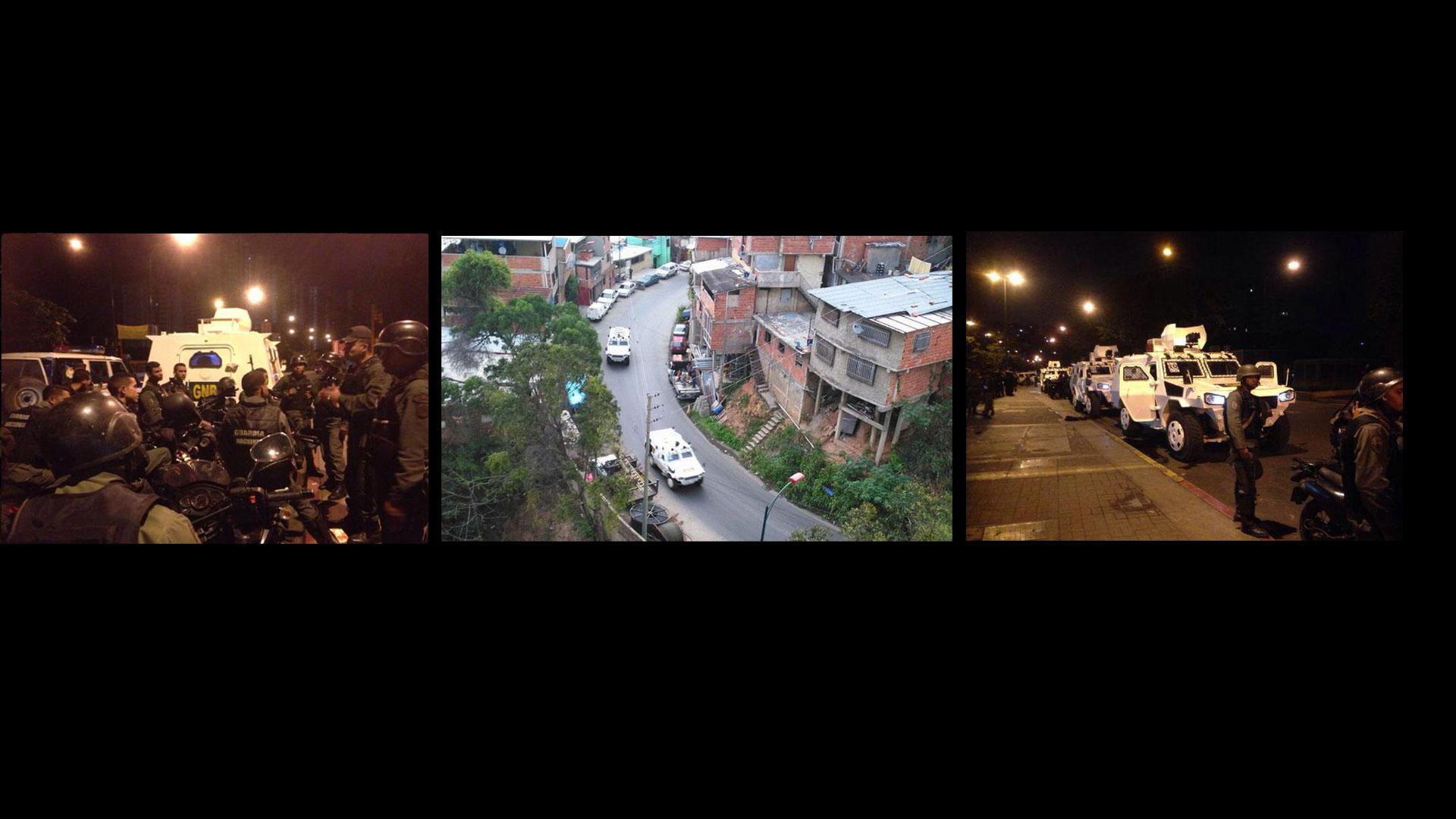 Desde tempranas horas de la mañana se reporta la presencia de numerosas vehículos blindados pertenecientes a la Guardia Nacional