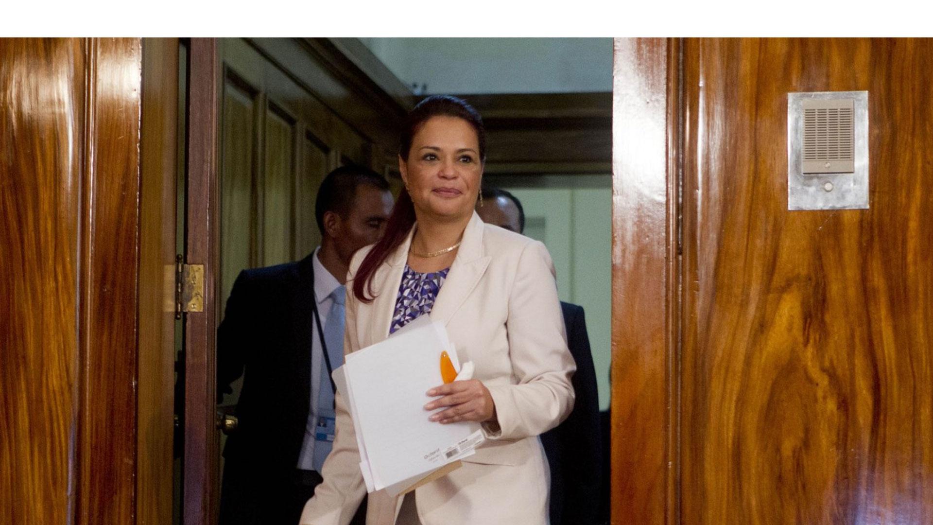Roxana Baldetti fue denunciada por presuntamente dirigir una estructura criminal dedicada a la defraudación tributaria