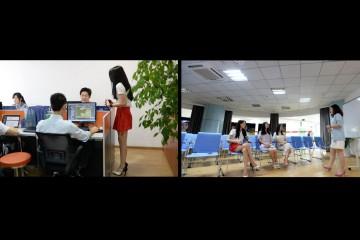 Las compañías de tecnología en China contratan a mujeres que hablen y jueguen con sus empleados