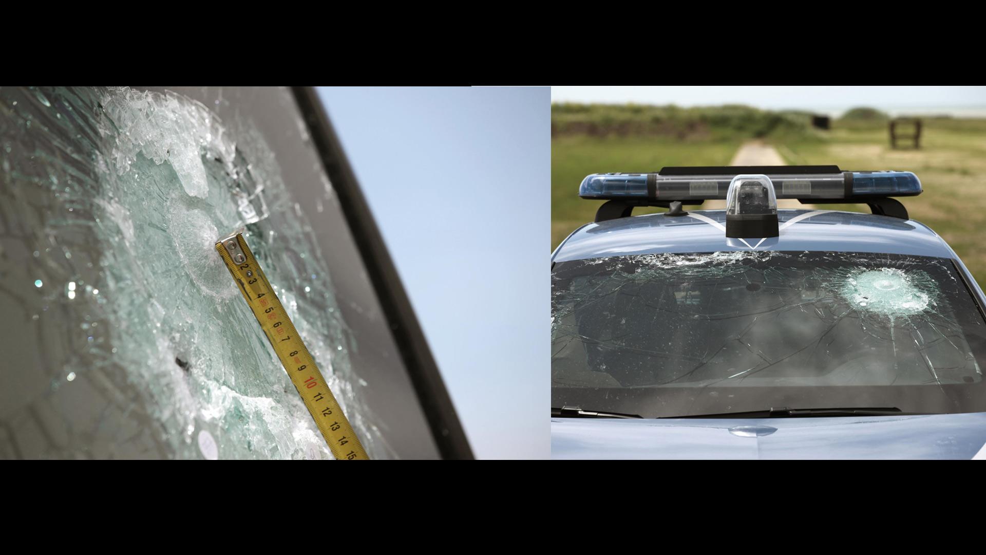 Para comprobar la seguridad de los pasajeros, los vehículos policiales deben pasar por arduos exámenes