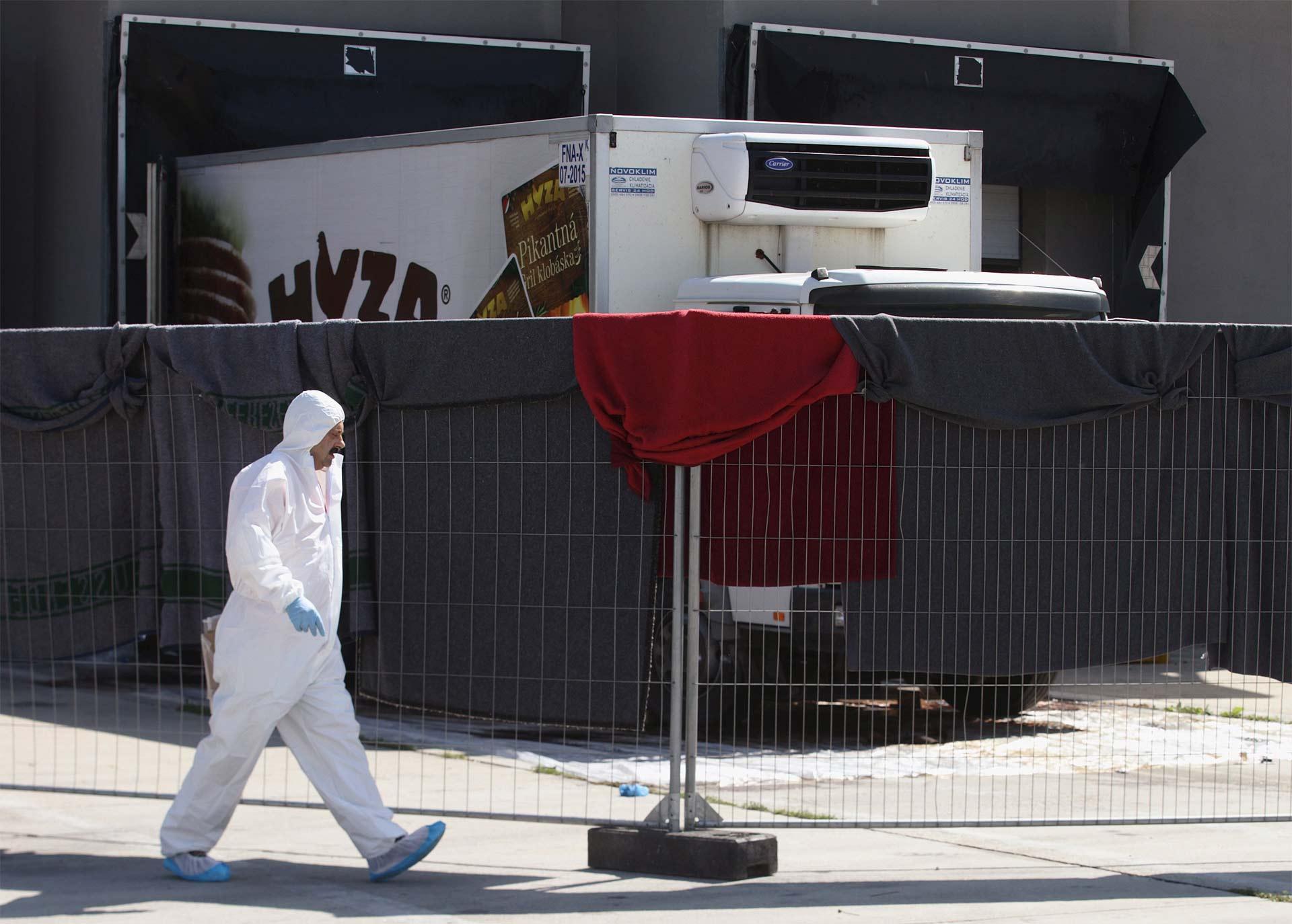 En total fueron detenidos siete sospechosos, entre ellos seis búlgaros relacionados con la muerte de 71 refugiados
