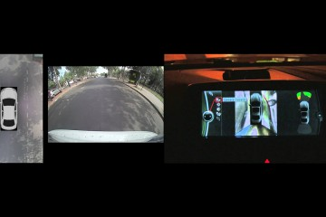 El sistema está integrado por cuatro cámaras que ofrecen una visión panorámica y aérea del vehículo