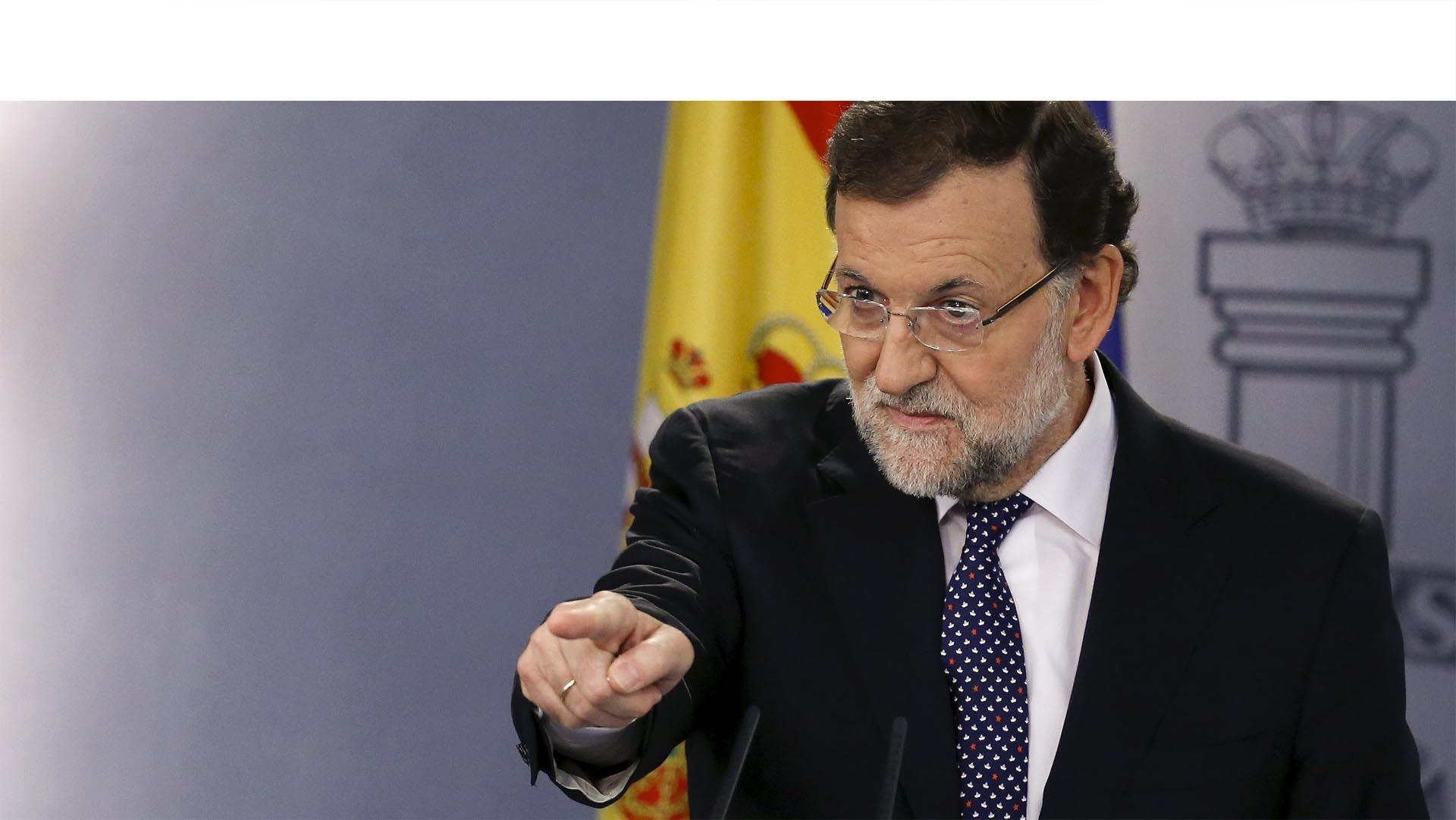 Mariano Rajoy aseguró frenar la amenaza, pero no dio detalles de sus próximas acciones