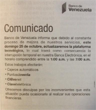 Banco de venezuela actualiza plataforma web doble llave Banco venezuela clavenet