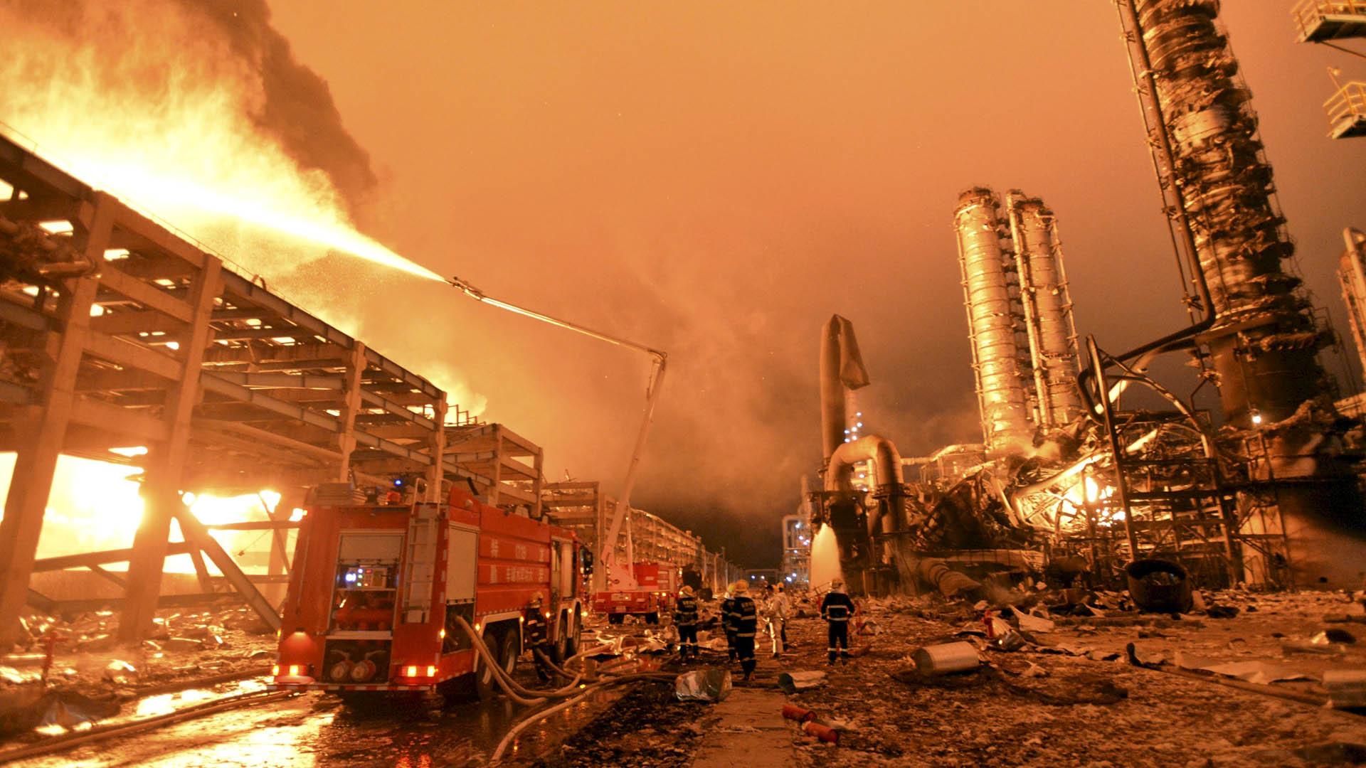 Gobierno chino anunció que va a proceder a revisar las condiciones de seguridad de fábricas y depósitos químicos
