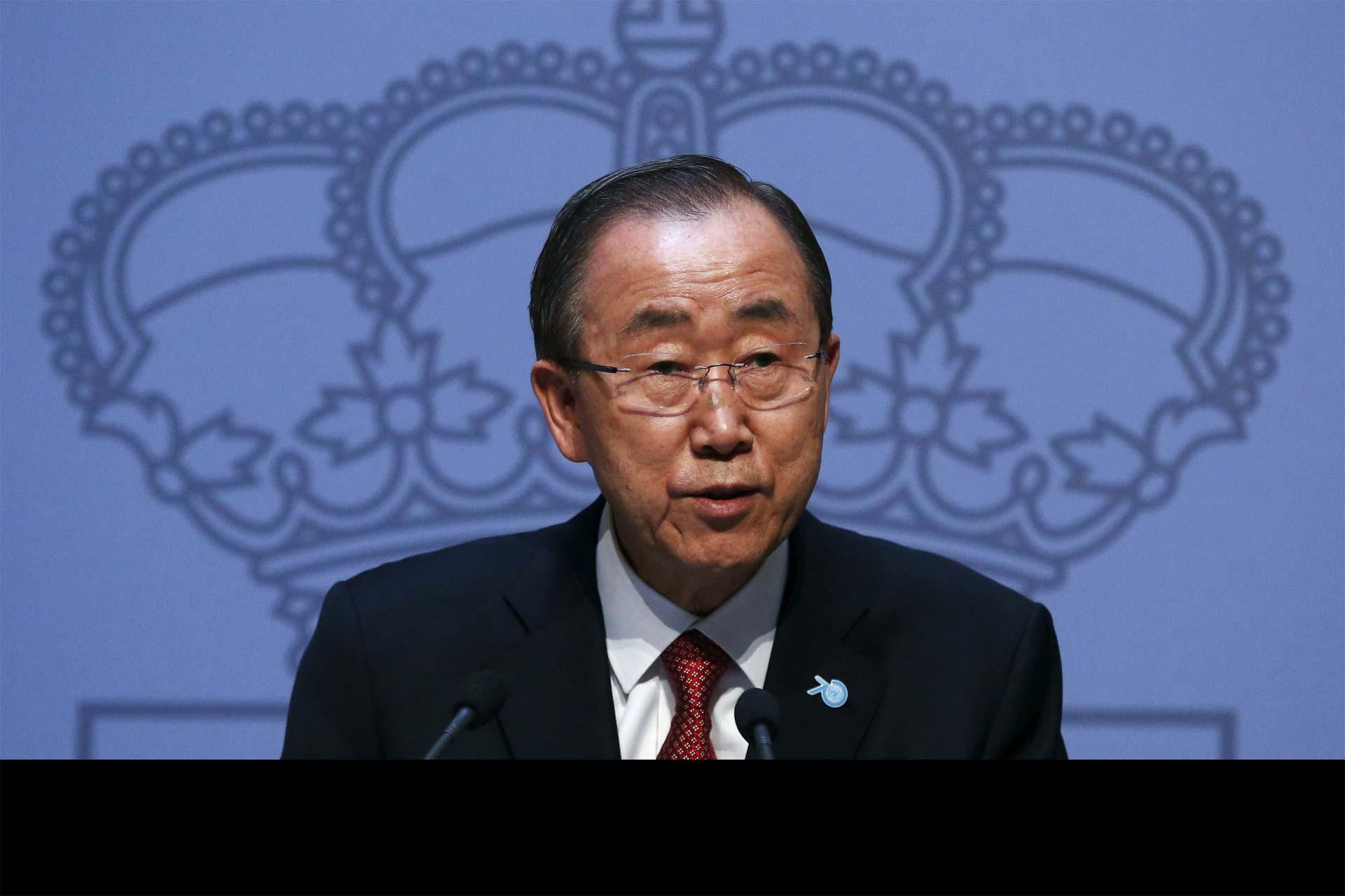 """""""Construir muros y poner alambradas no es una respuesta"""", declaró Ban Ki-moon"""