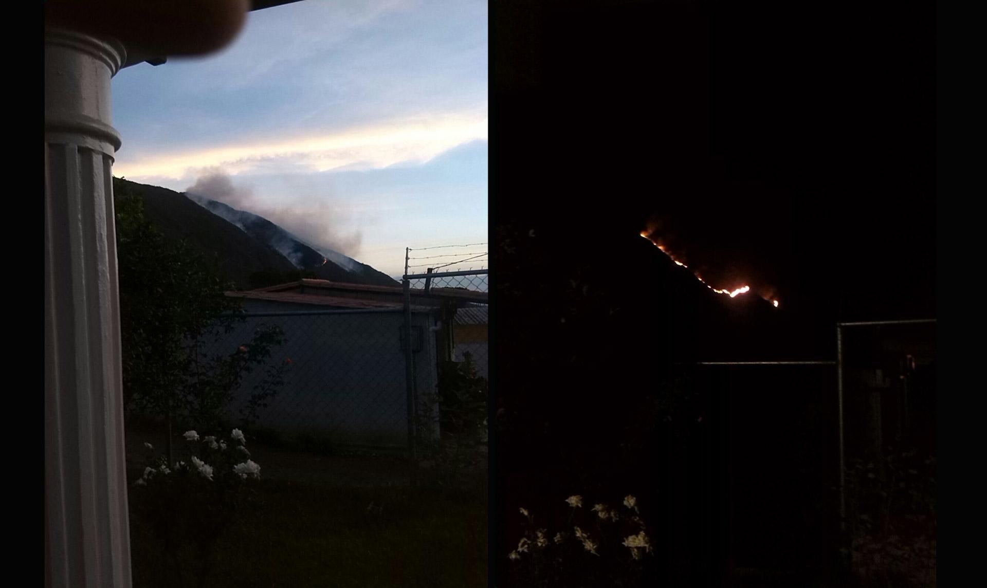 Desde septiembre se registran fuertes llamas en la localidad