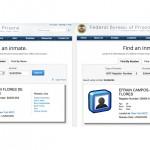 Registro en el Buró de Prisiones de Franqui Flores de Freitas y Efraín Campos Flores, extrañamente no tiene fotos