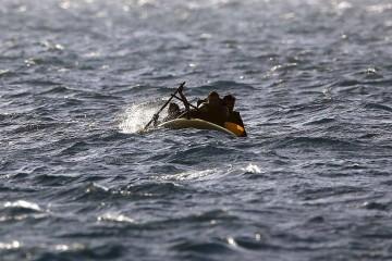 La guardia costera llevó a cabo la misión de rescate por vía aérea y marítima