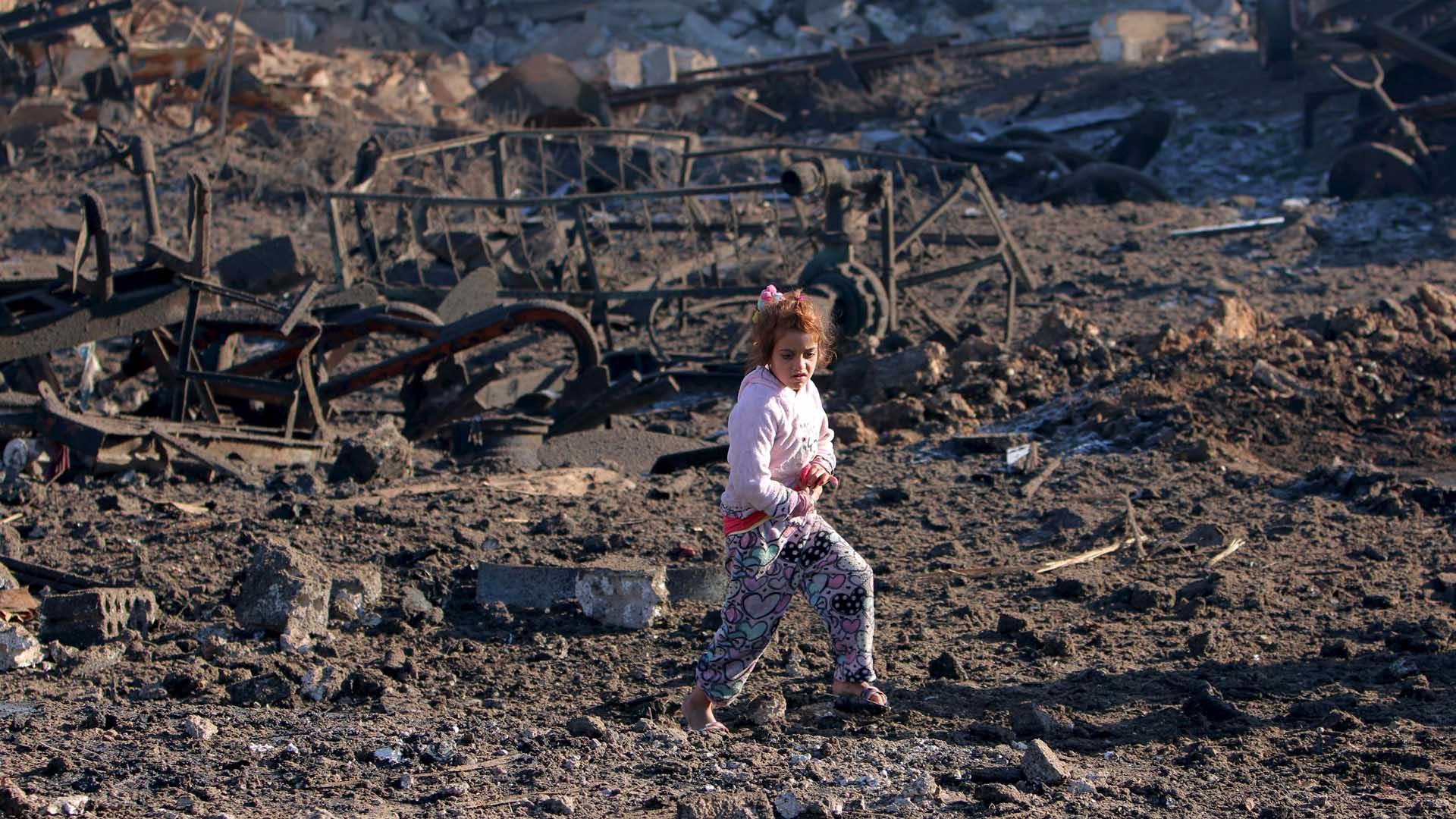 El Observatorio Sirio de Derechos Humanos presume que el hecho fue perpetrado por aviones rusos