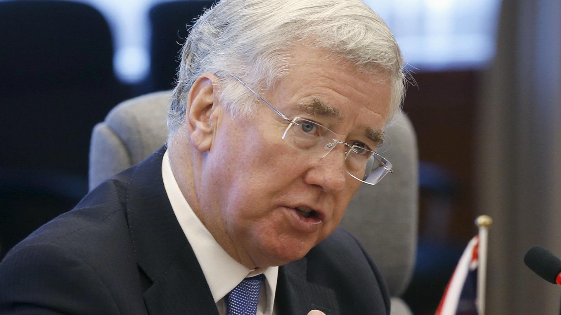El ministro de Defensa británico ratificó que Reino Unido y Francia prestarán el apoyo necesario