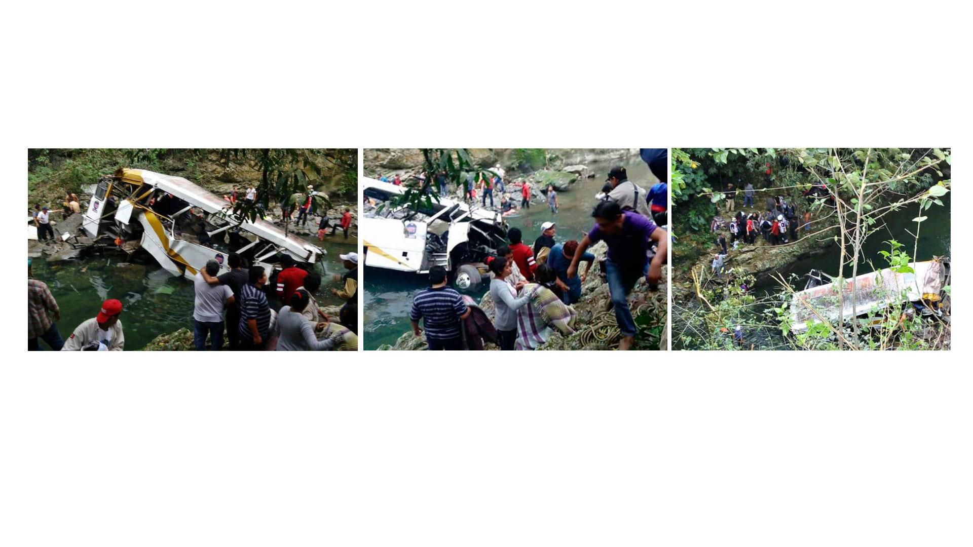 Al menos 18 muertos y 15 heridos es el resultado del accidente
