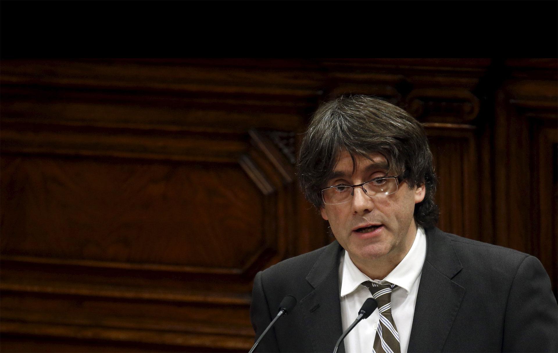 Carles Puigdemont se comprometió a impulsar la ruptura de Cataluña con España