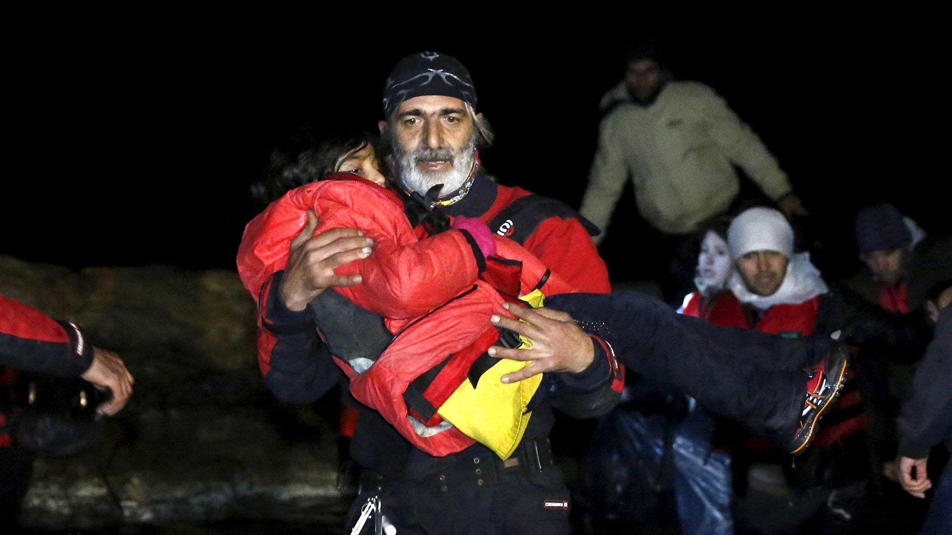 La mayoría de los inmigrantes huyen de la guerra civil en Siria