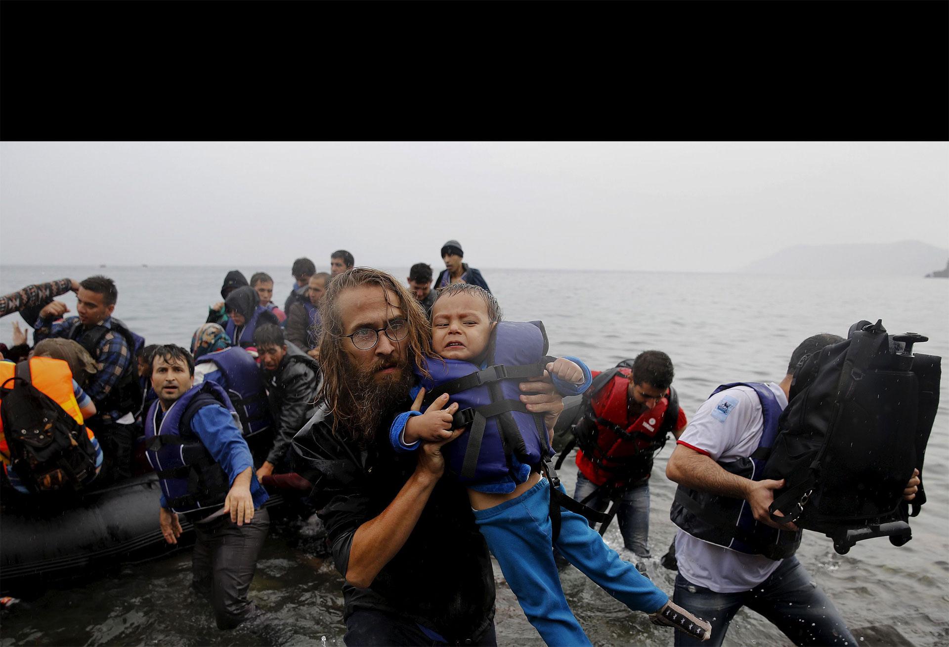 164 refugiados fueron rescatados en las islas de Lesbos y Quíos en Grecia
