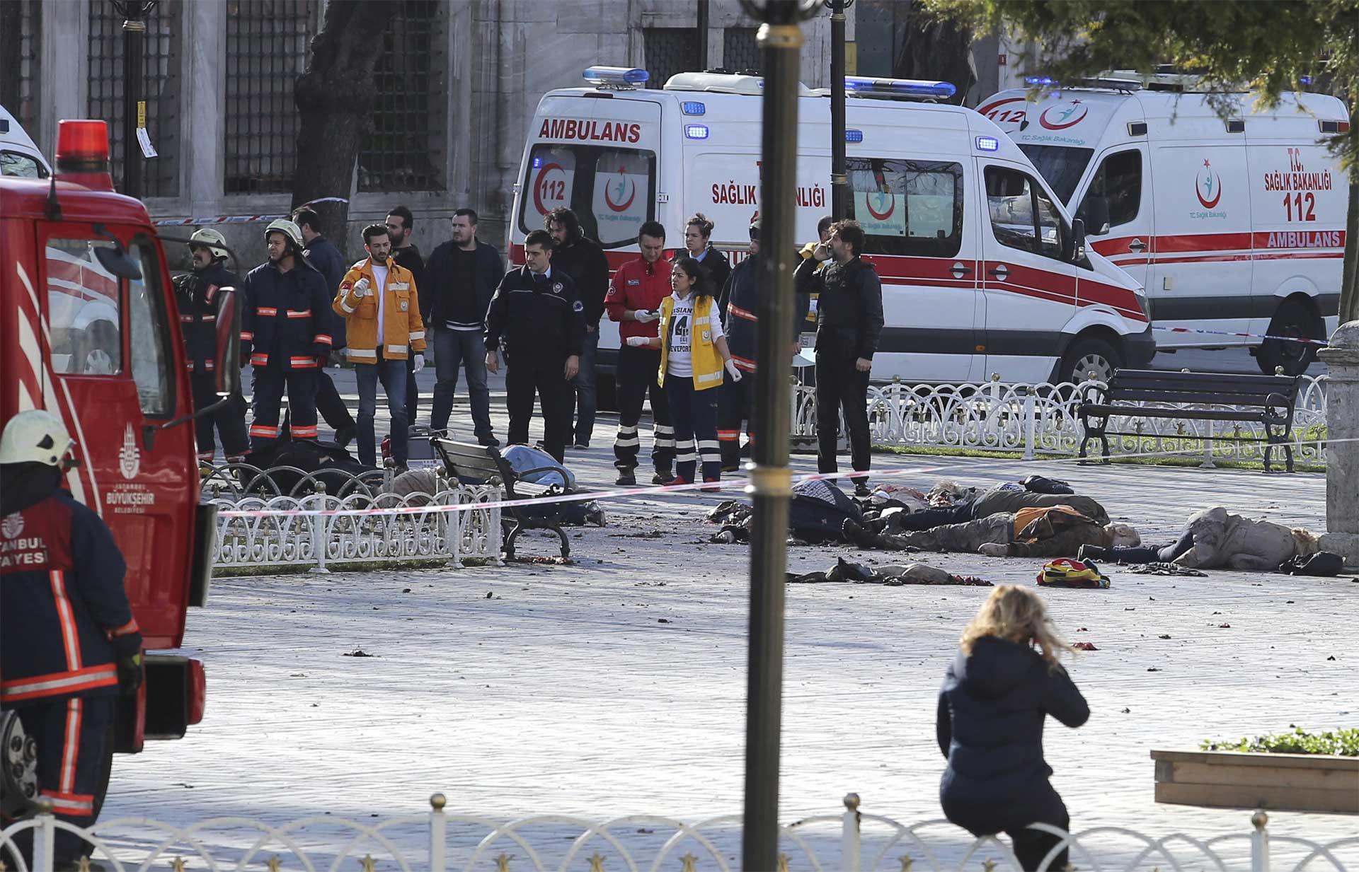 El primer ministro turco, Ahmet Davutoglu, atribuyó el hecho a la milicia terrorista Estado Islámico