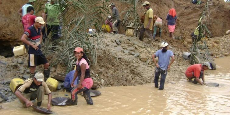 Mineros en Venezuela. Foto referencial.