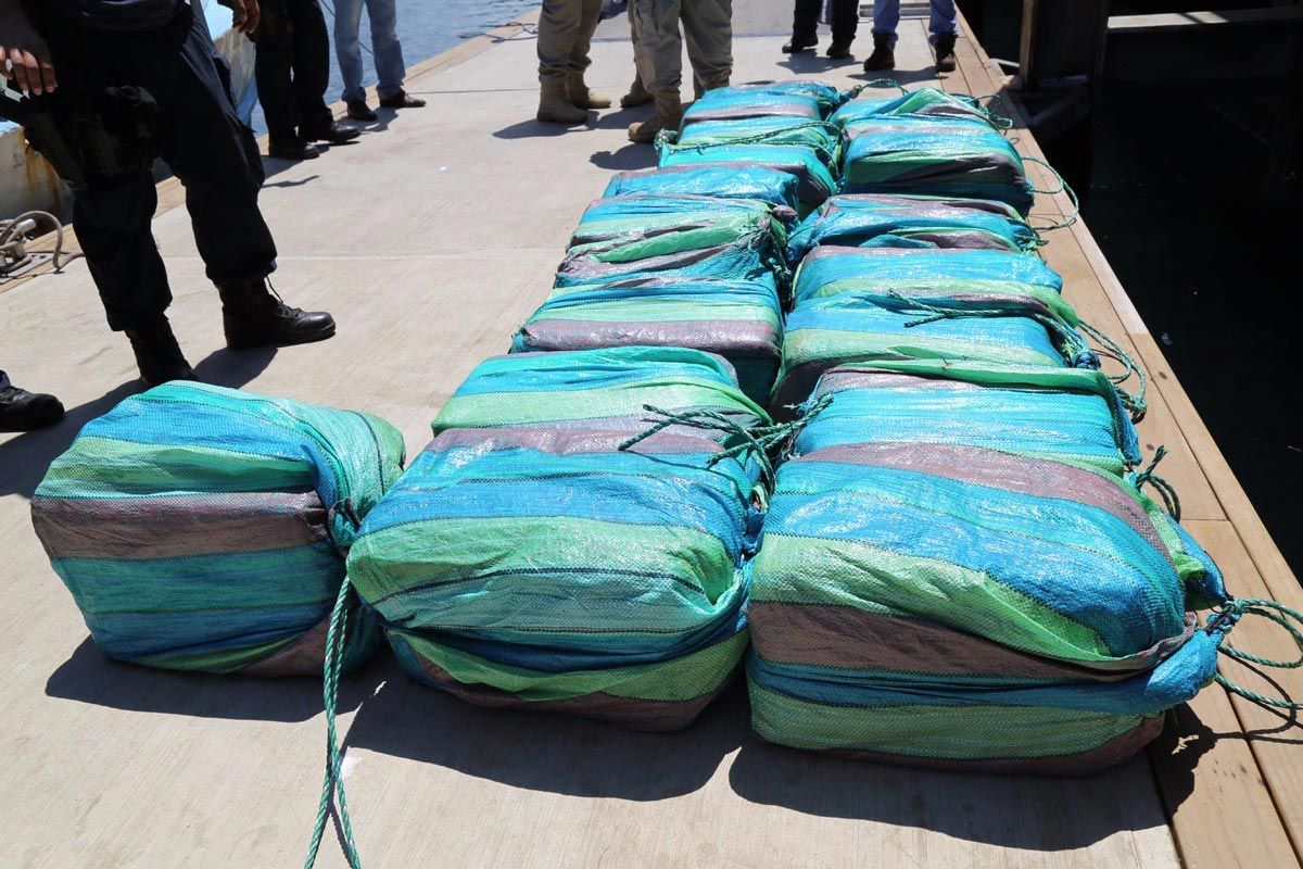 En lo que va de año, se han encontrado más de dos toneladas de droga en Costa Rica