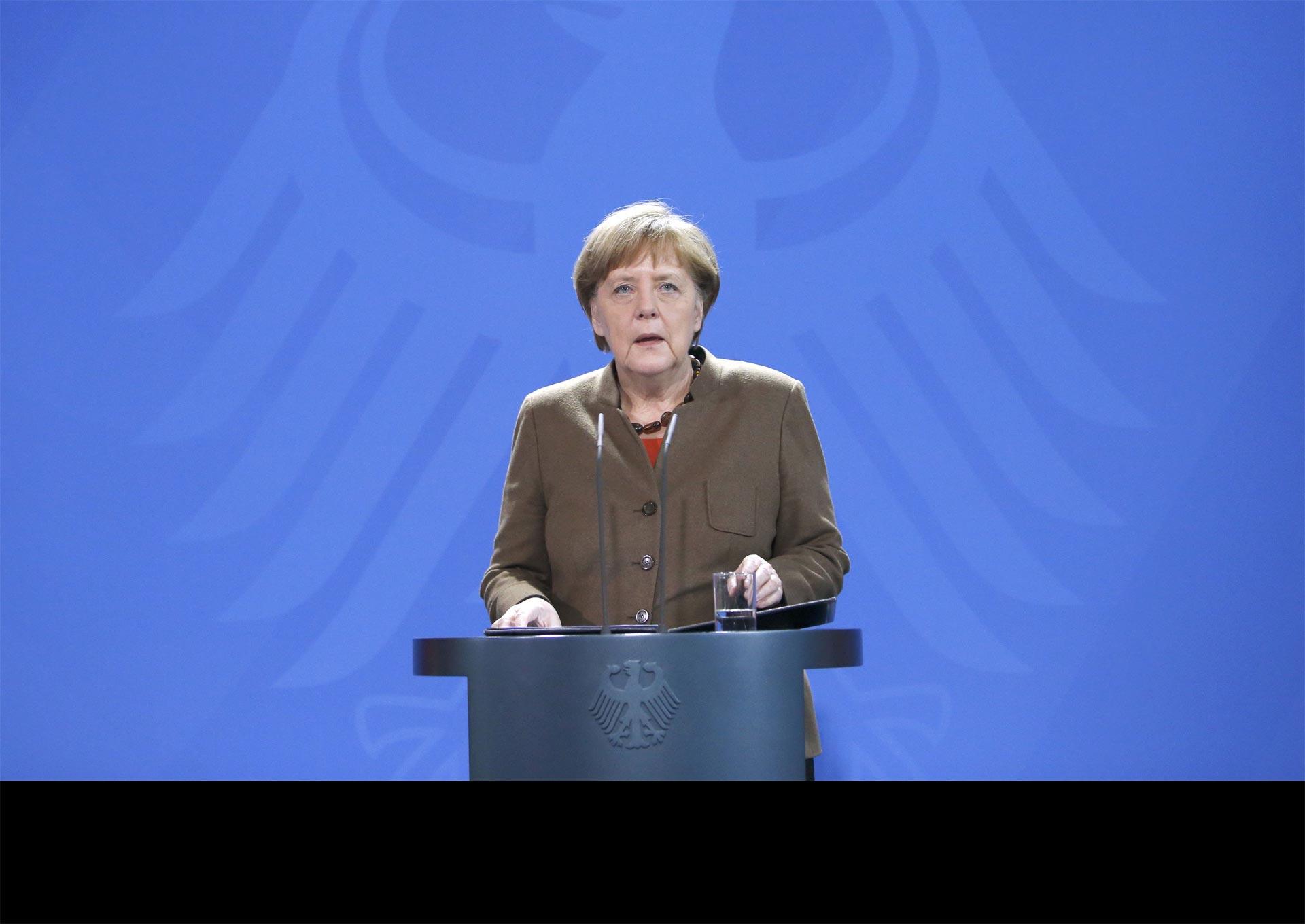 Merkel condenó los atentados en Bruselas y dijo que colaborará con los organismos de seguridad