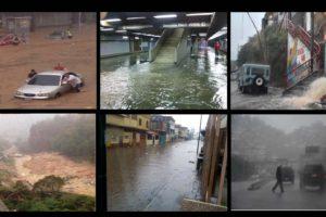 Las principales avenidas de la ciudad se han inundado al tiempo que las estaciones de metro han presentado averías