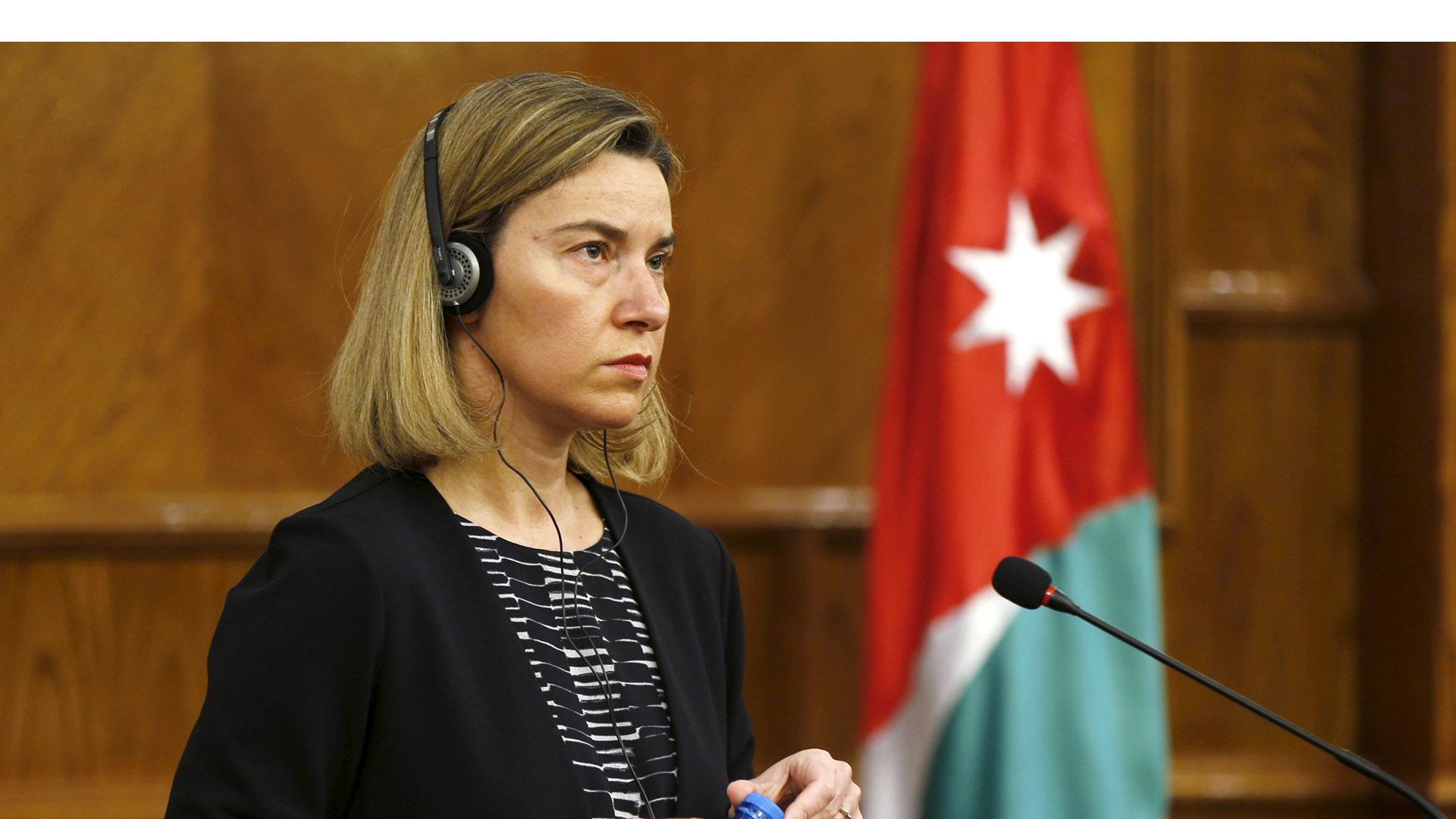 La representante de Política Exterior y de Seguridad de la UE, Federica Mogherini aseguró que mediante el dialogo se logrará una solución pacífica y duradera