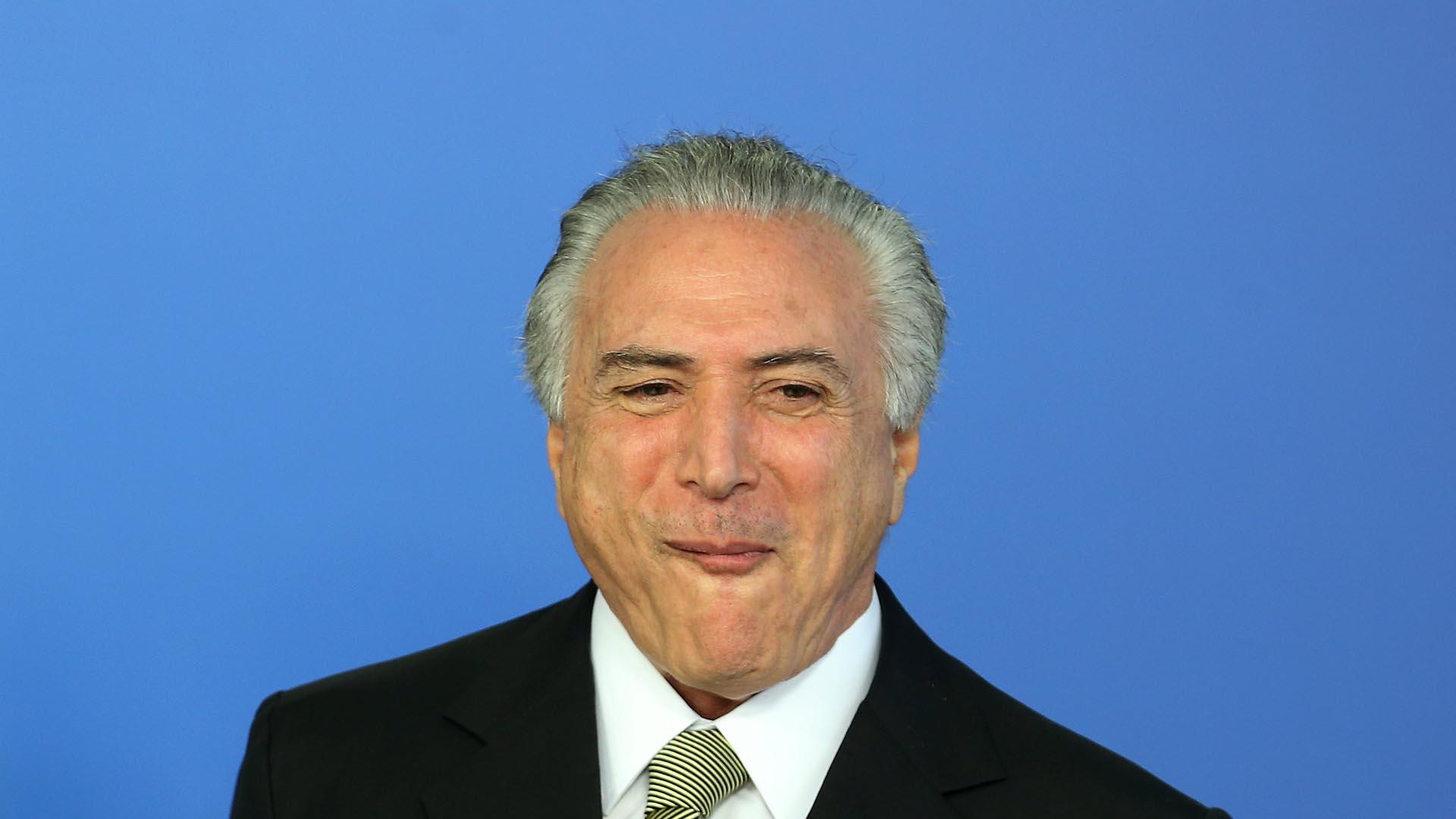 Michel Temer tomó el cargo de presidente interino de Brasil el 12 de mayo del presente año