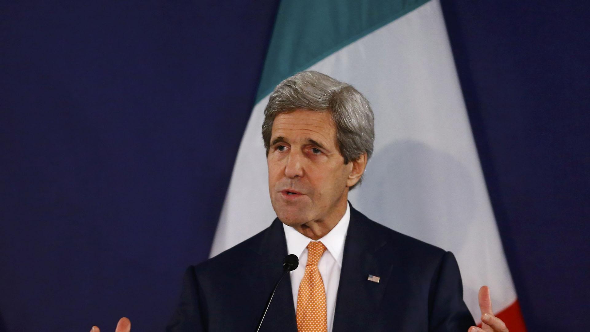 El secretario de Estado norteamericano dijo que está a favor de soluciones democráticas y pacíficas