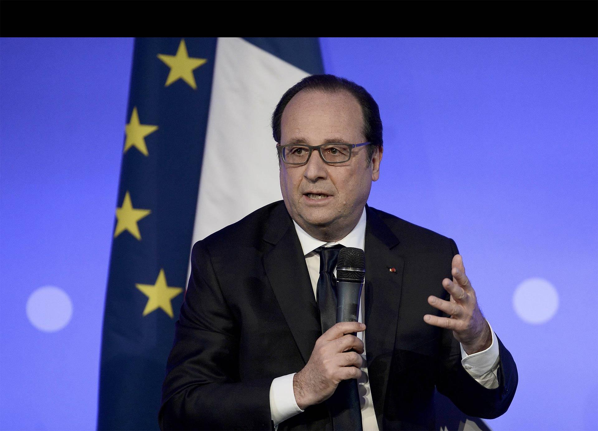 Hollande se mostró en desacuerdo con las cosas planteadas en esta fase de la negociación