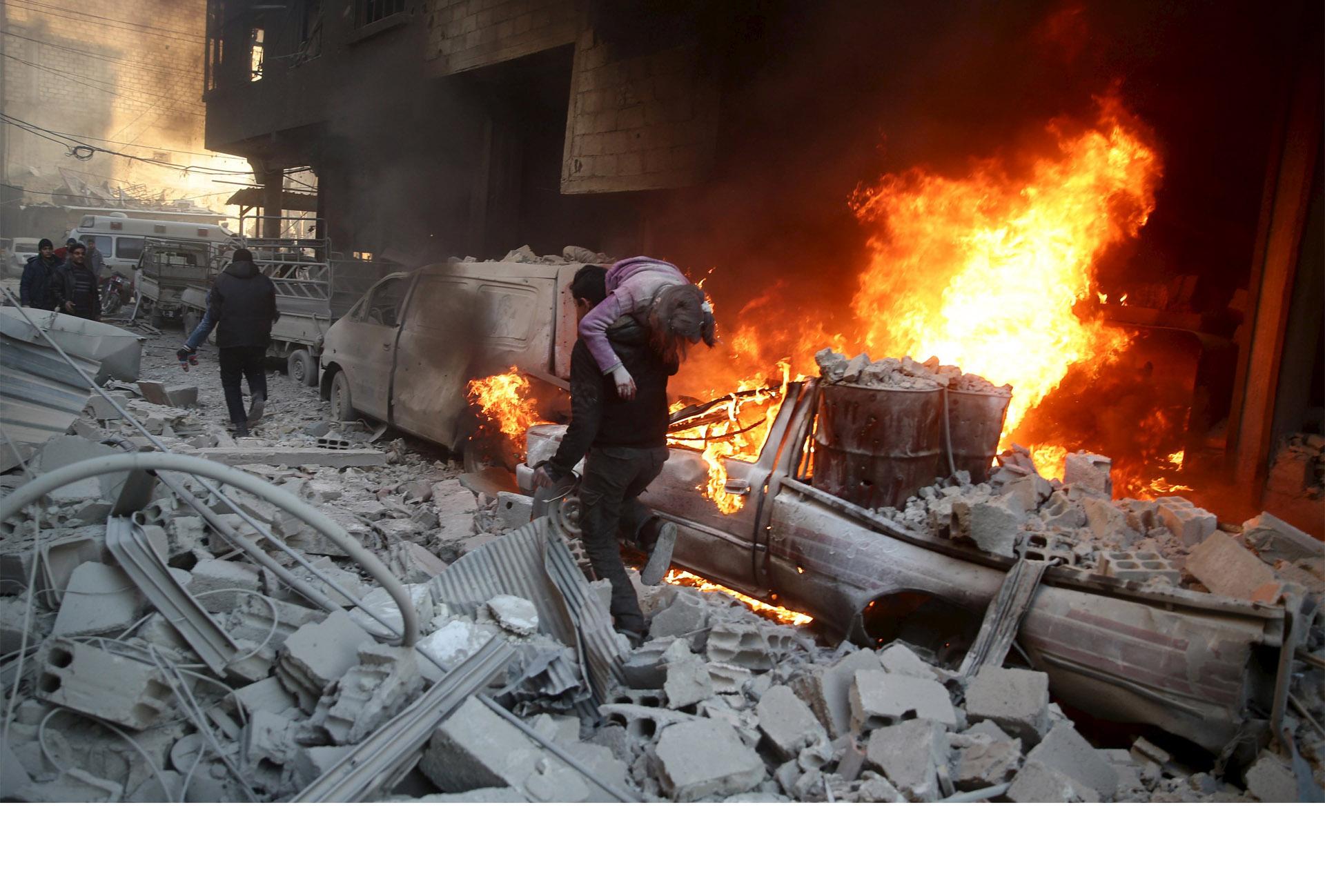 Bombardeos dejan fallecidos en Siria