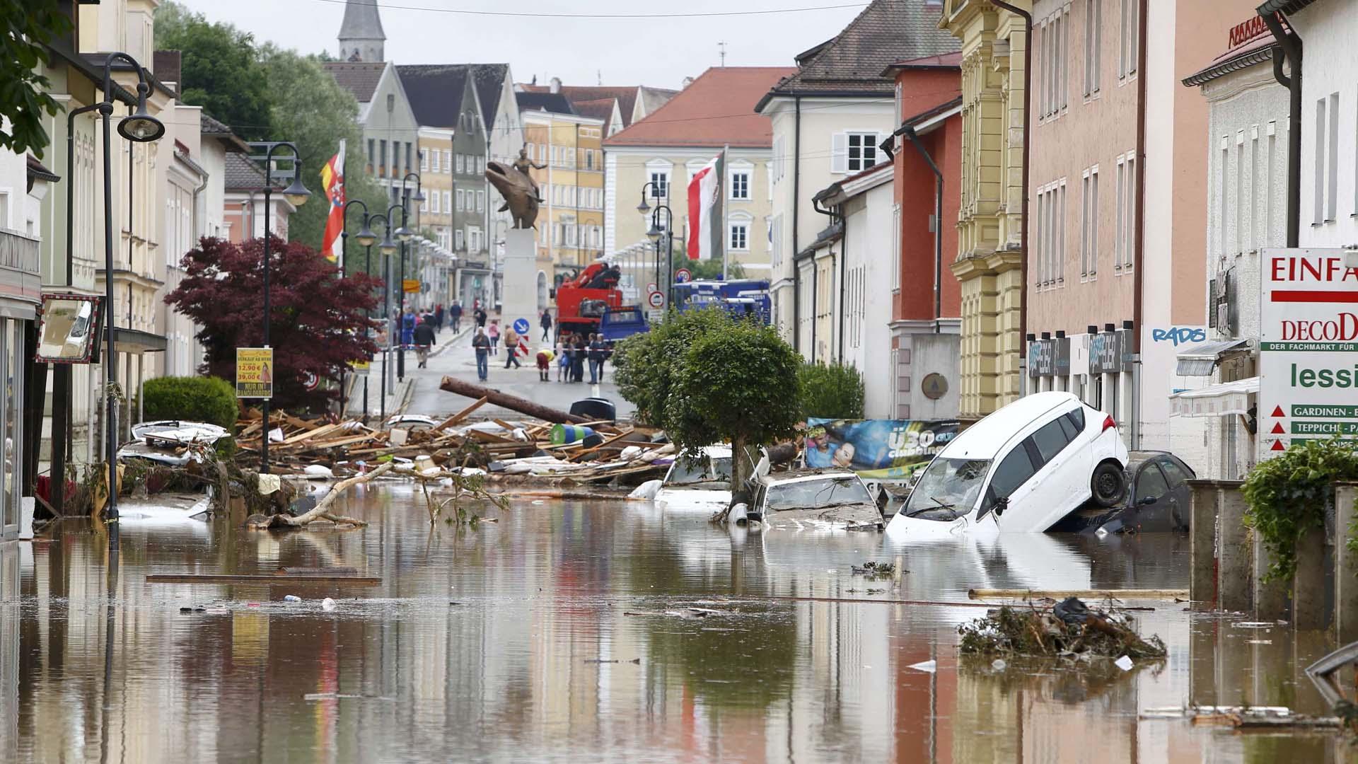 El servicio meteorológico alemán (DWD)advirtió que las tormentas seguirán hasta la semana próxima