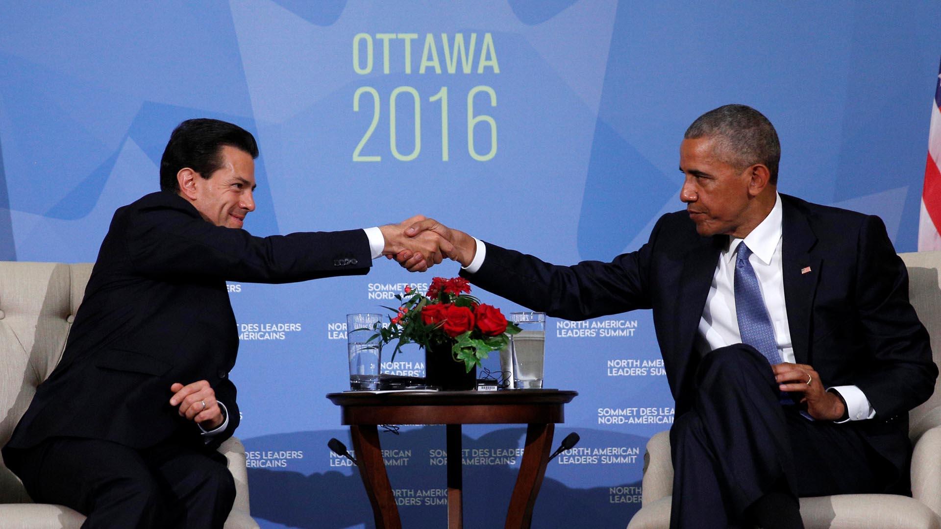 El presidente Unidos Barack Obama le manifestó al presidente Enrique Peña Nieto sus intenciones de seguir trabajando juntos