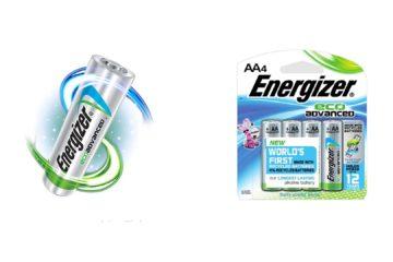 Las pilas Energizer EcoAdvanced fueron creadas con un 4% de material reciclado asegurando ser igual de útiles que las normales