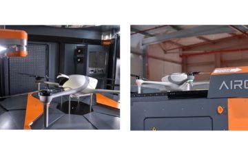 La empresa Airobotics creó un sistema para que la aeronave autónoma se cargue sin que haya nadie asistiendo la operación
