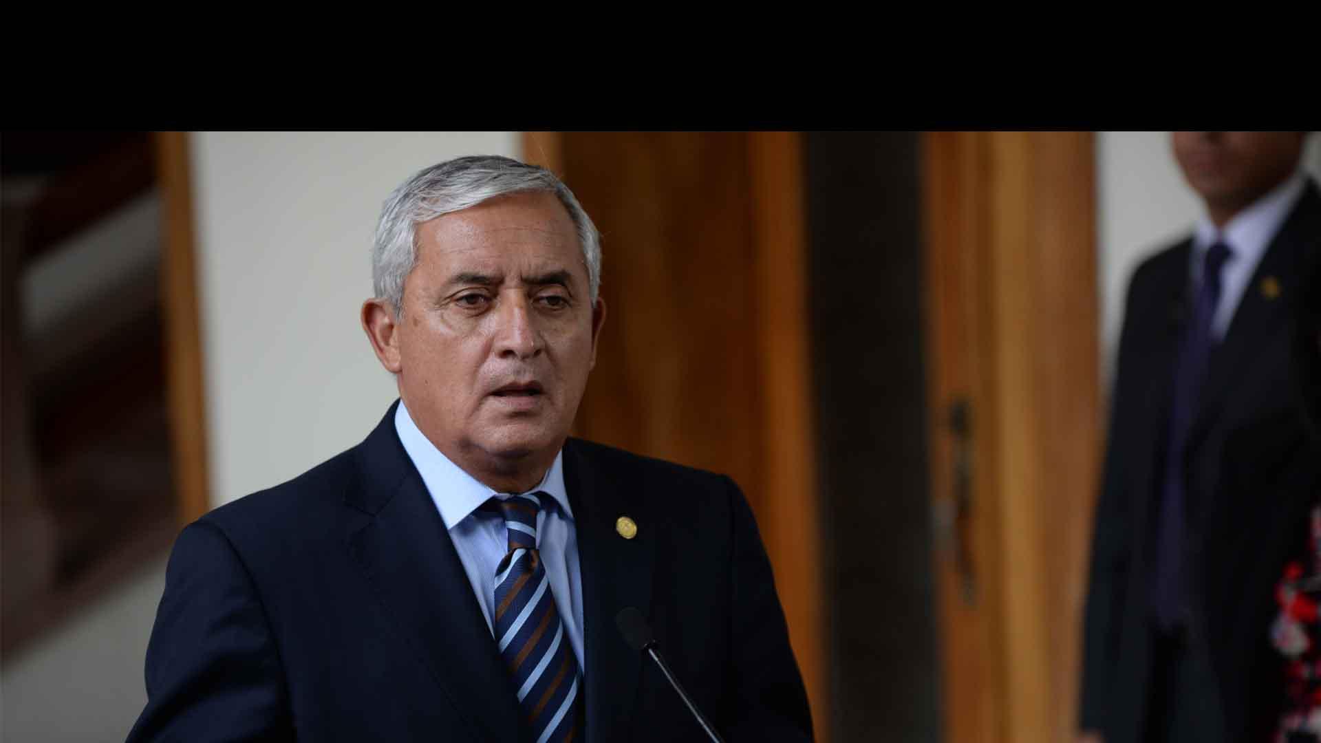 El ex presidente guatemalteco ha sido señalado como la cabeza del entramado de corrupción gubernamental de 2012-2015