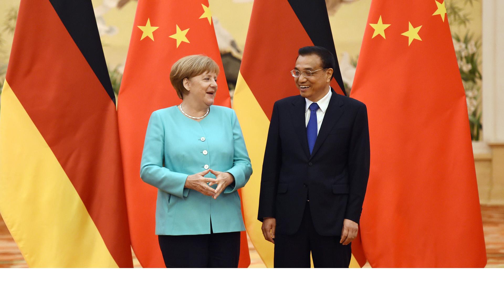 Angela Merkel culminó su viaje a China
