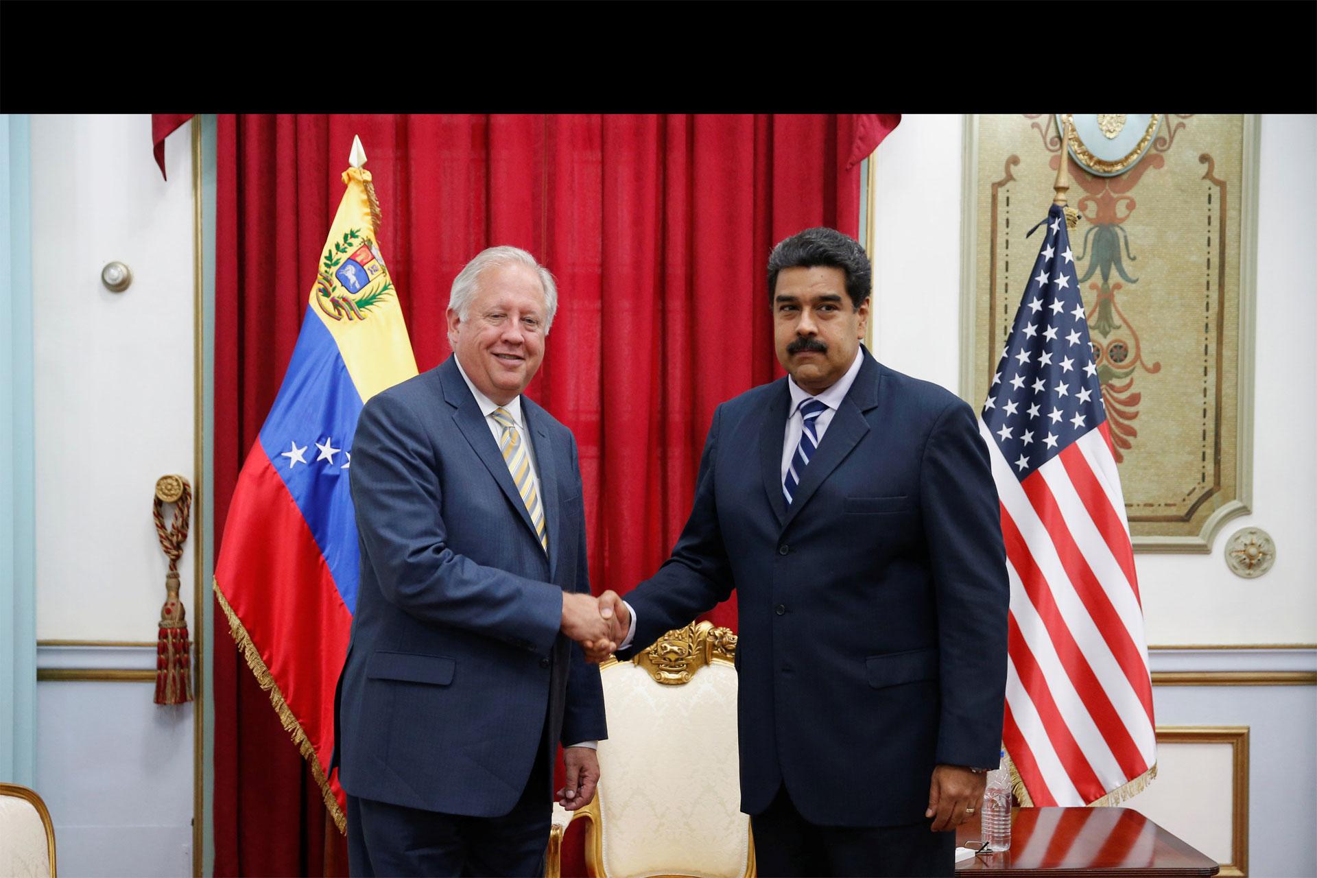 En la reunión de dos horas, también participó la ministra de Relaciones Exteriores, Delcy Rodríguez