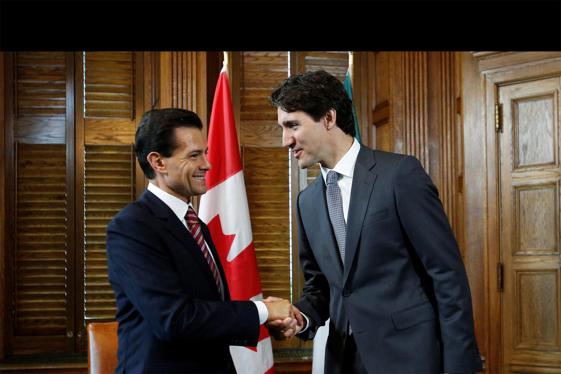 Así lo anunció el primer ministro, Justin Trudeau, durante la visita del presidente Peña Nieto a su país