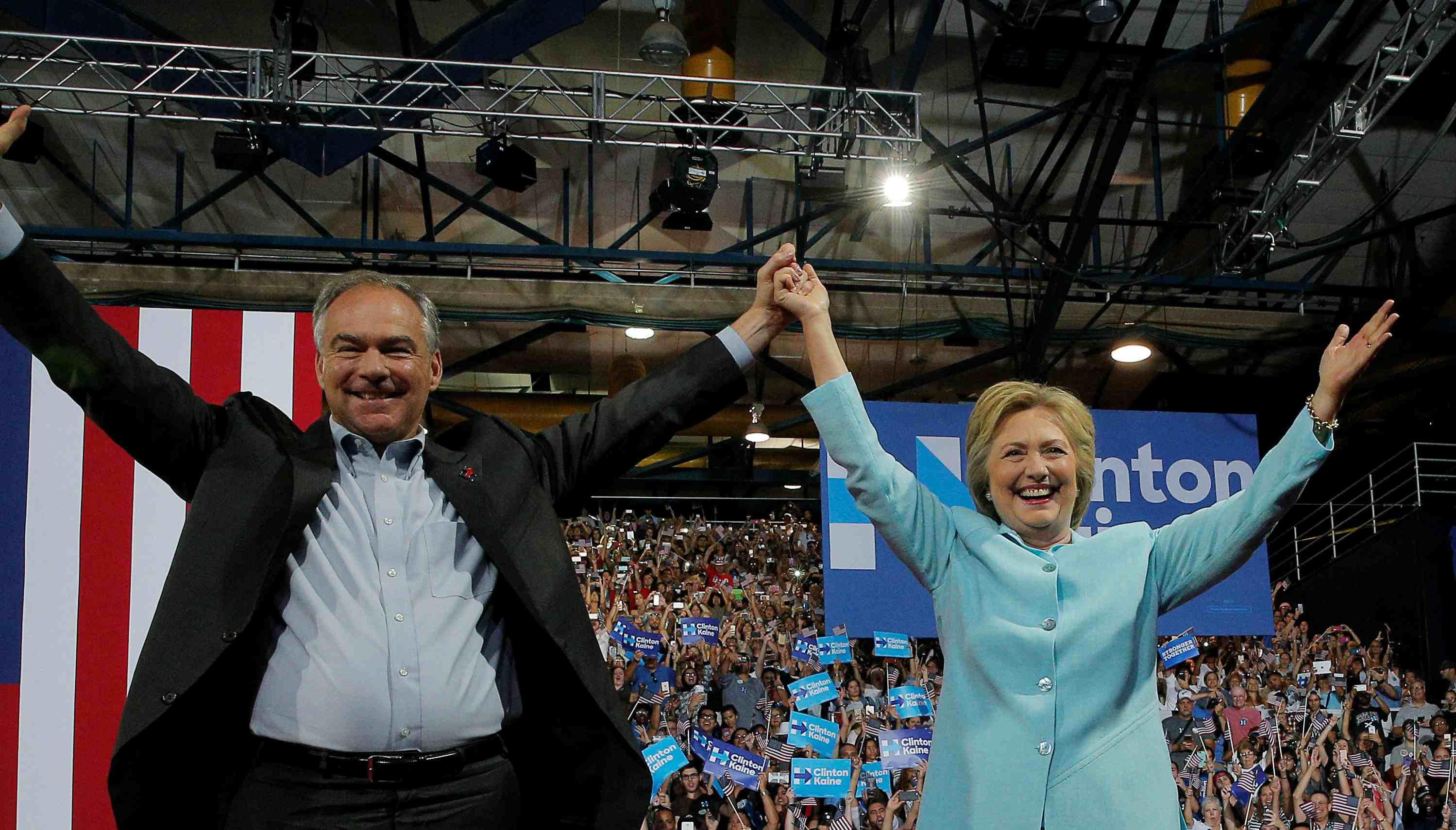El senador por Virginia sería el vicepresidente si la candidata demócrata llega a la Casa Blanca