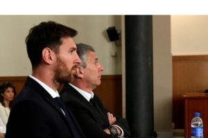 El futbolista argentino y su padre, Jorge fueron condenados por tres delitos de fraude fiscal contra la Hacienda española