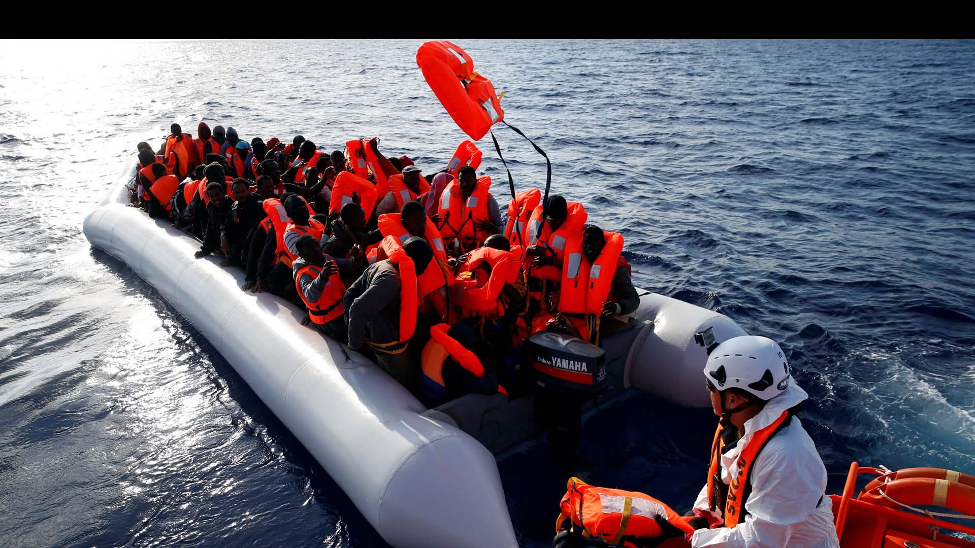 Las victimas se quedaron en medio del Mediterráneo intentando llegar a Italia en pequeñas embarcaciones