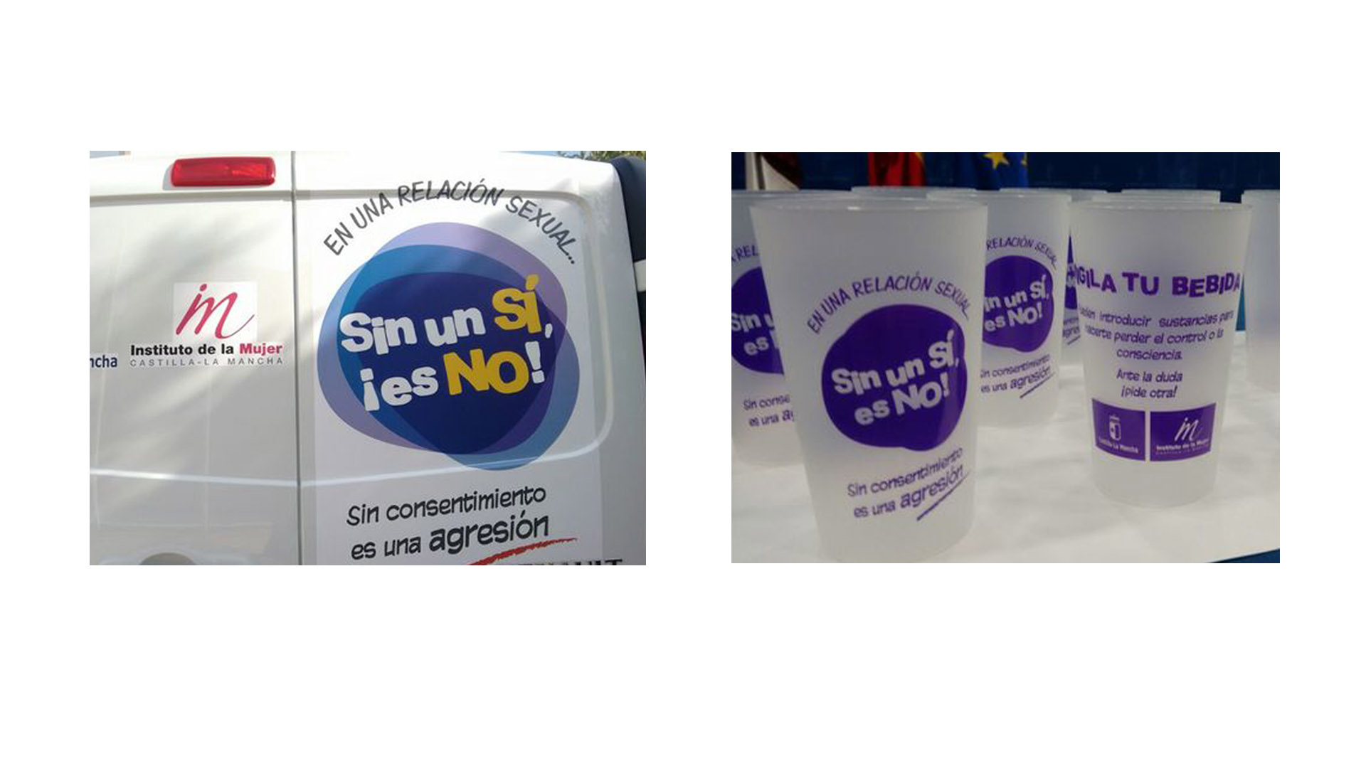 """Bajo el lema """"Sin un sí, ¡Es no!"""" la iniciativa busca un cambio en la mentalidad masculina para que exista más respeto hacia la mujer"""