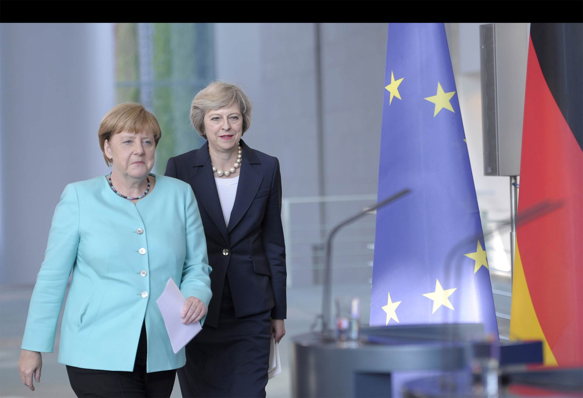 Merkel recibió a Theresa May