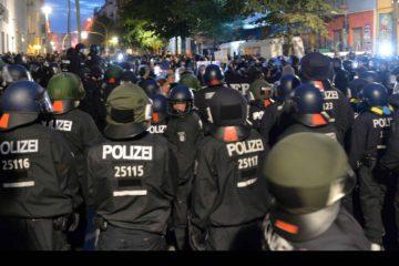 Una concentración se derivó en actos violentos donde 123 policías fueron golpeados a manos de manifestantes en Berlín