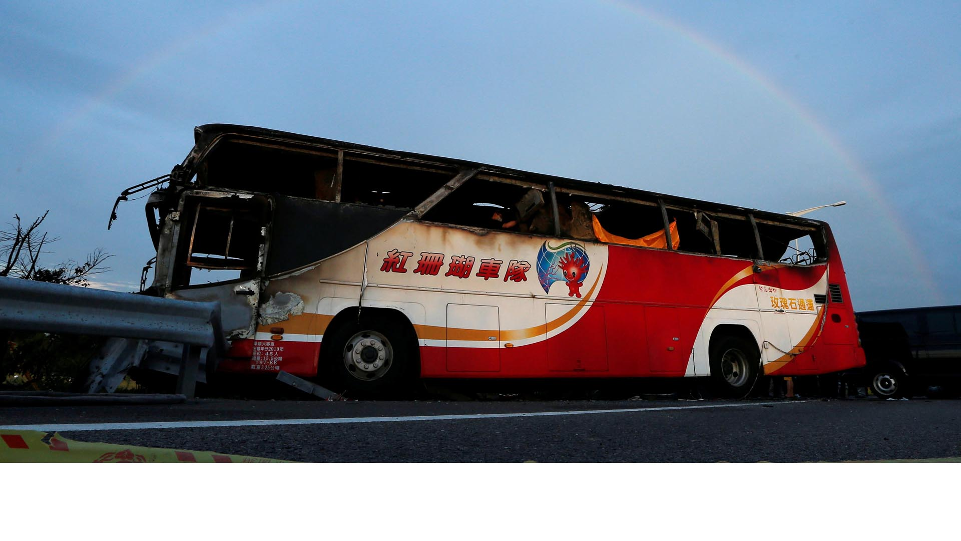 El accidente ocurrió, en el kilómetro 2,9 de la Ruta Nacional 2, cerca del principal aeropuerto internacional de Taiwán