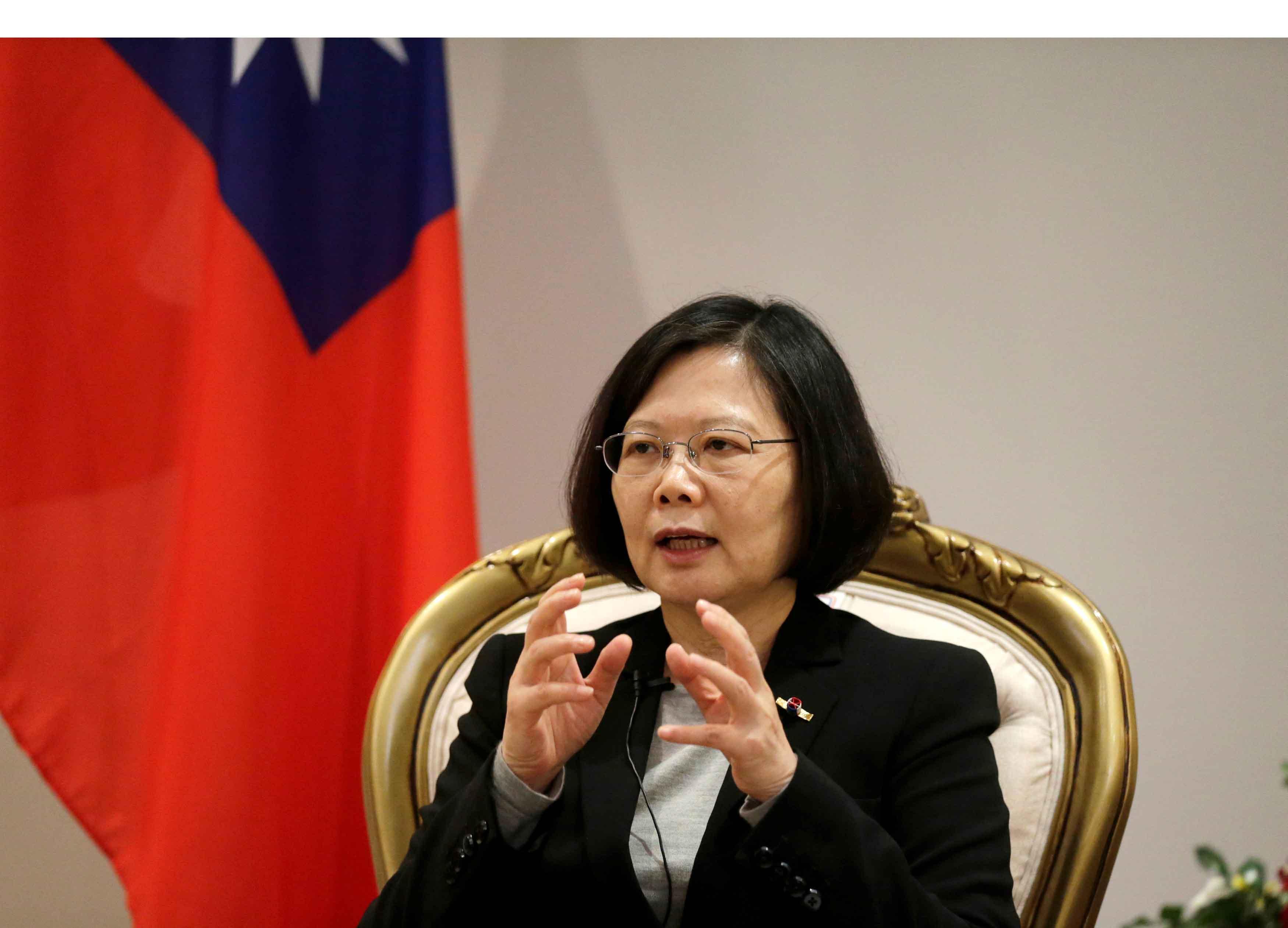 La presidenta reconoció que el Ejército taiwanés no está bien como está, sino que necesita reformas, que deben ser drásticas y decisivas