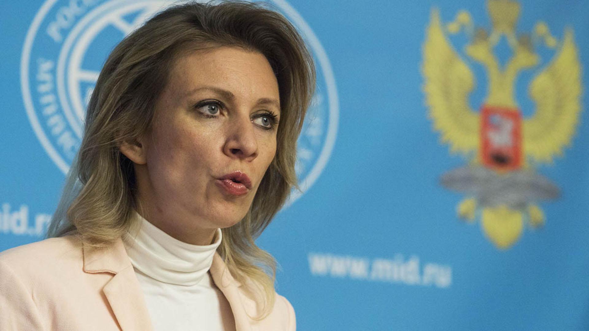 María Sajarova, vocero del Ministerio de Asuntos Exteriores de Rusia