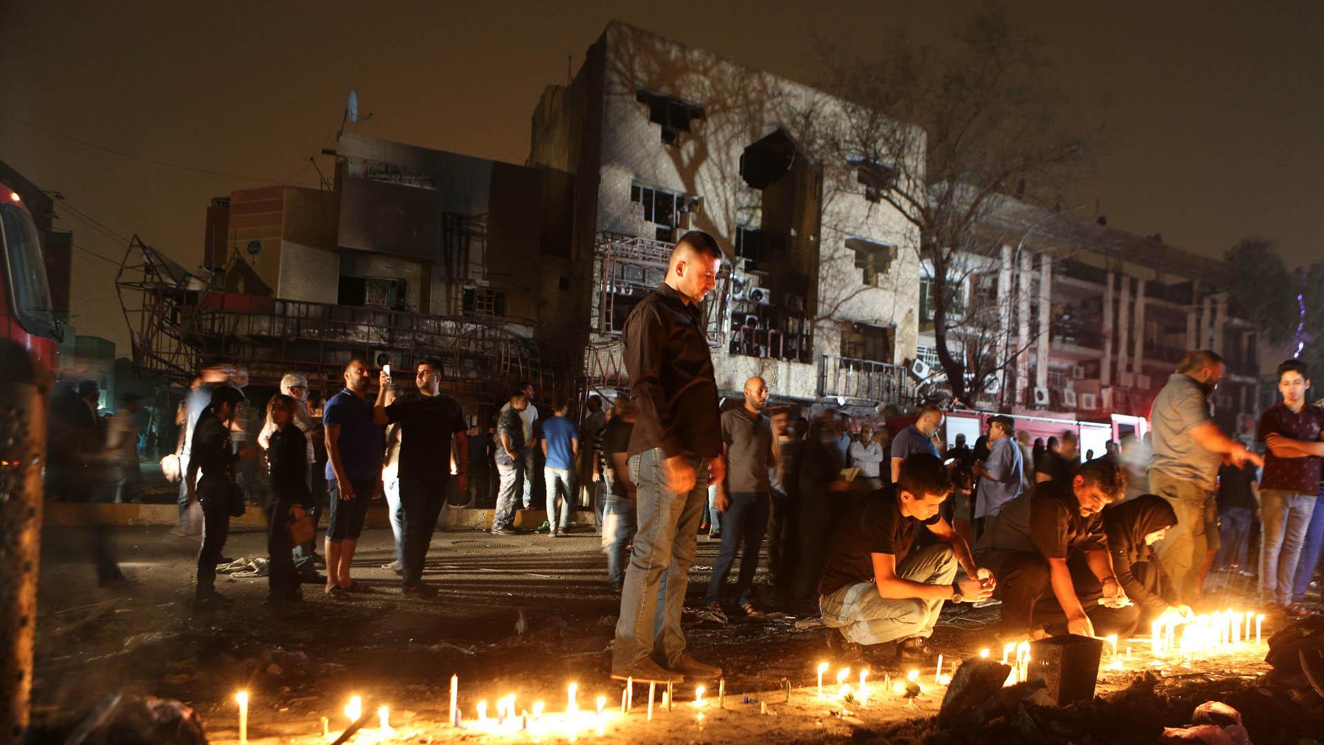 La noche del domingo un terrorista detonó un cinturón explosivo en una boda en Ain al Tamr, Irak